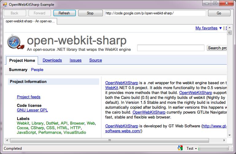openwebkitsharp